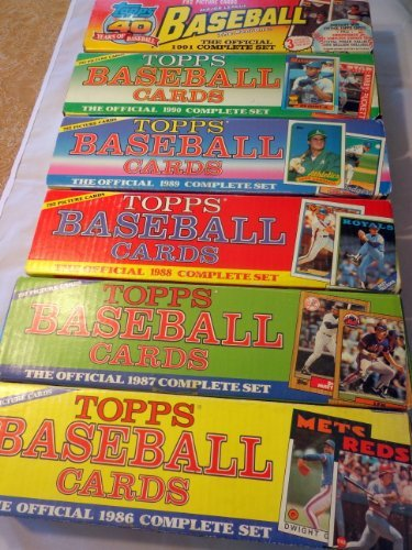 - Lot of 6 Sets From Topps. 1986 1987 1988 1989 1990 1991 Baseball Card Complete Factory Opened Sets in the Fancy Colored Christmas Boxes!