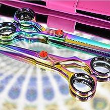 Professional Hairdressing Scissors & Hair Thinning Scissors set - High Quality Steel Hair cutting scissors Size 5.5 Inch B_S. (Multi)