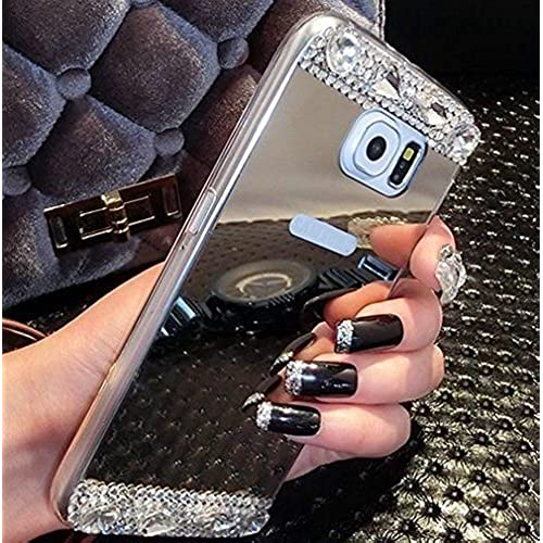 Luxury Mirror Phone Case For Samsung Galaxy S7 Edge Bling Diamond Crystal Mirror [2016] (Silver For Galaxy S7 Edge) Sales