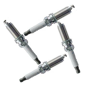 4pcs 22401-JA01B metal de las bujías de encendido del coche enchufe de sustitución de accesorios para Nissan Sentra Cubo Rogue Regard: Amazon.es: ...