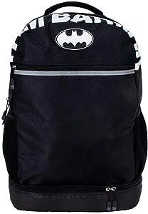 "DC Comics Batman 18"" Backpack Dark Knight Heavy Duty Commuter Bag"
