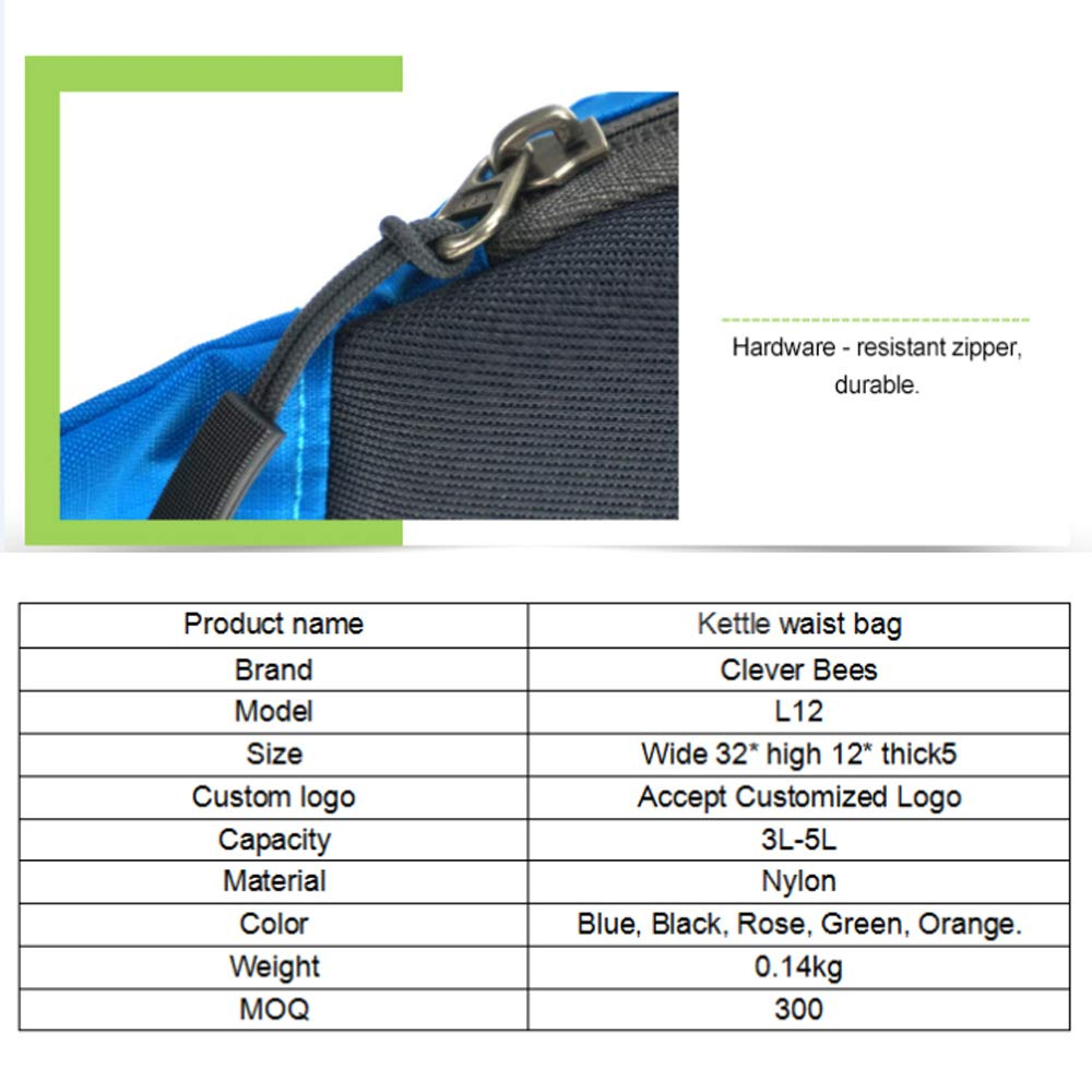 ZSTY Mountaineering Pockets Hiking Riding Sports Bottle Pockets Men Running Kettle Bag Multi-Function Female Multi-User Outer Messenger Bag Large Capacity Storage Bag