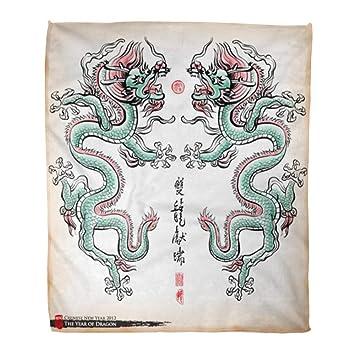 Amazon.com: Manta de franela cálida y acogedora con diseño ...