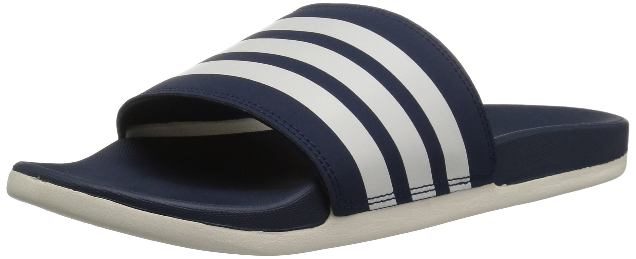 adidas Men's Adilette CF+ Slide Sandal, Collegiate Navy/Chalk White/Collegiate Navy, 12 M US by adidas