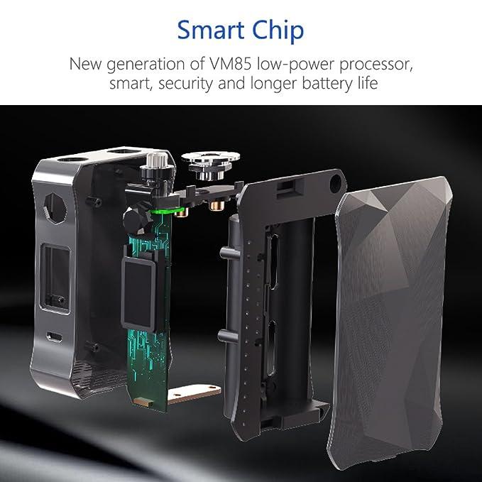 Cigarrillo Electronico Profesional Fredest 7-160W TC Box Mod Kit 2ml Tanque de Relleno a Tope 0,3 Ohm Control de flujo de aire Atomizador Sin Nicotina ...
