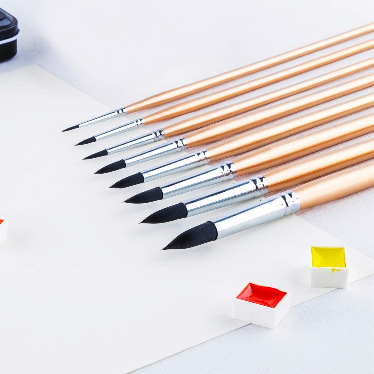 Transon Artist Round Watercolor Brushes for Painting 8pcs