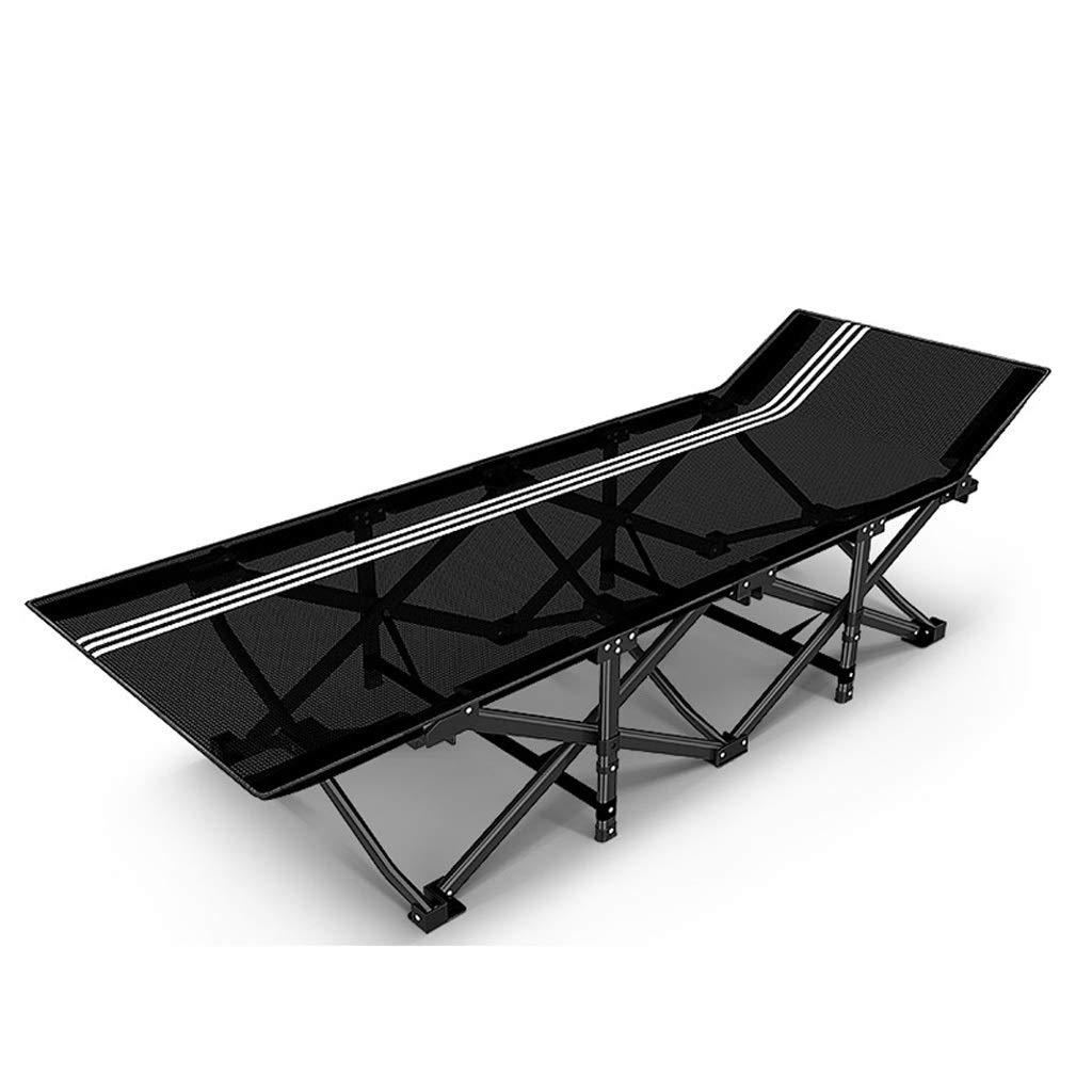 折りたたみベッド折りたたみデッキチェアキャンプベッドオフィス昼寝チェア家庭用多機能折りたたみベッドポータブルトラベルリクライニングチェアビーチガーデンテラス (色 : ブラック, 設計 : B) B07QLSB7Y9 ブラック B