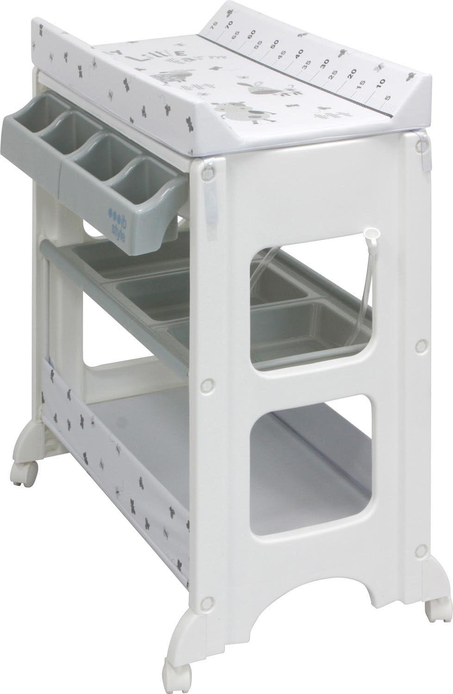 Table /à langer avec baignoire/à roullettes 11 d/écors diff/érents IB-Style Matelas Commode B/éb/é Meuble Mod/èleAstronaut