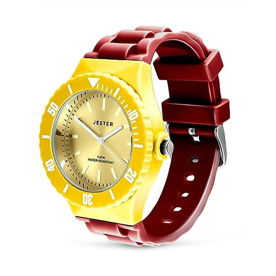 Bandera de España Reloj, colores de España, adulto Unisex deportes reloj por Jester: Amazon.es: Relojes