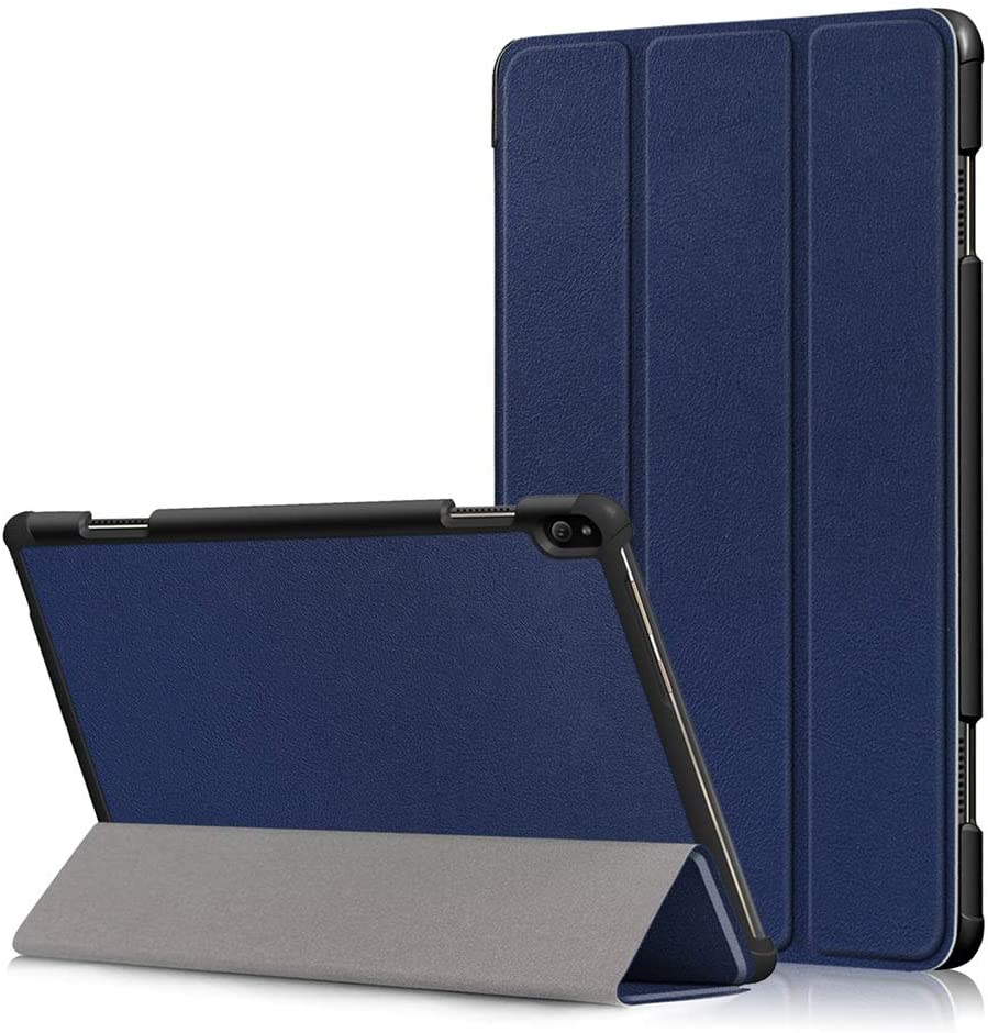 Premium Lightweight Smart Case for Lenovo Tab P10 Folio Case (NOT Fit Tab E10/ M10),[DETUOSI] Lenovo Tab P10 10.1 inch (TB-X705F) Slim Folding Stand Cover with Auto Sleep Wake Function,Deepblue