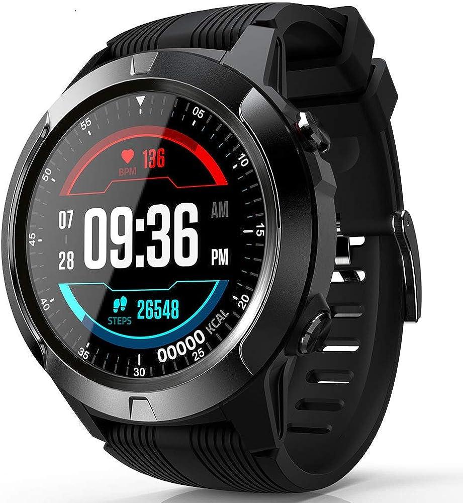 Bcamelys Smartwatch para hombres, llamada Bluetooth, reloj de fitness, reloj inteligente híbrido con pulsómetro, monitor de sueño, pantalla táctil, monitor de fitness, IP68, pulsera impermeable para iOS y Android: Amazon.es: Relojes