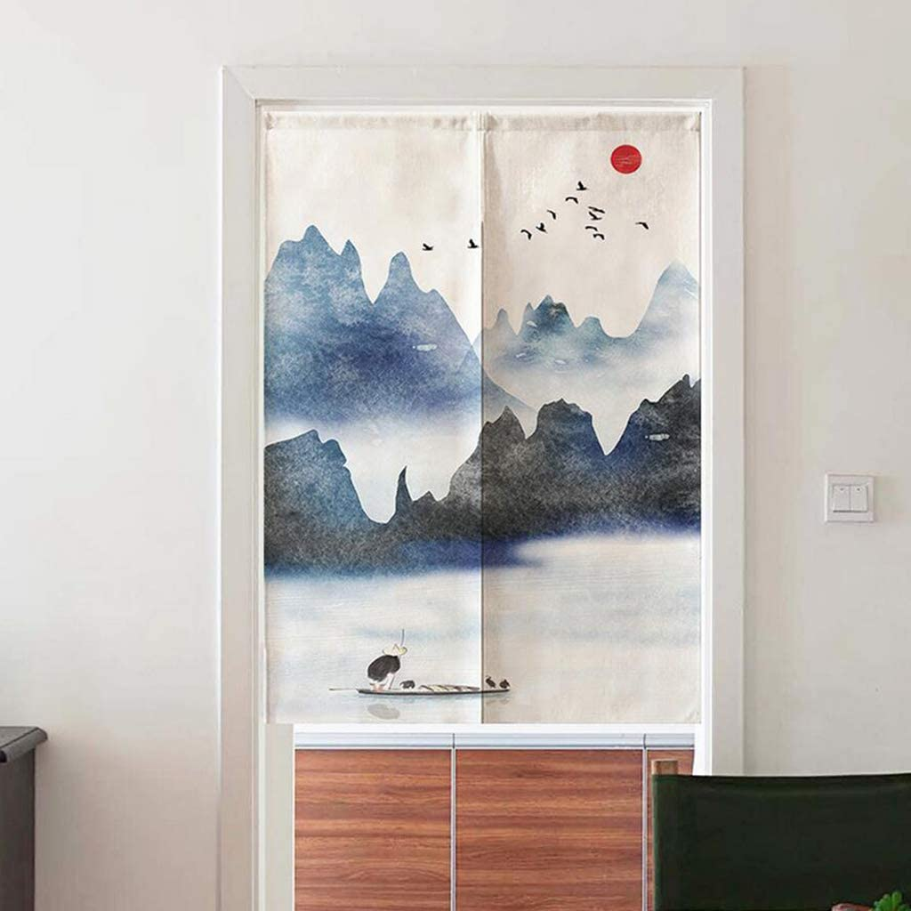 Doorway Japanese Noren Curtain Hanging Half Short Curtains Room Dividers