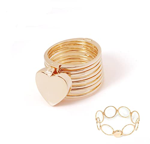 cb5366d59510 Image Unavailable. Image not available for. Color  Vesungimey Magic Ring  and Bracelet In 1 Jewelry for Women