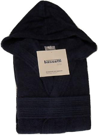 Large Blu Bassetti Accappatoio