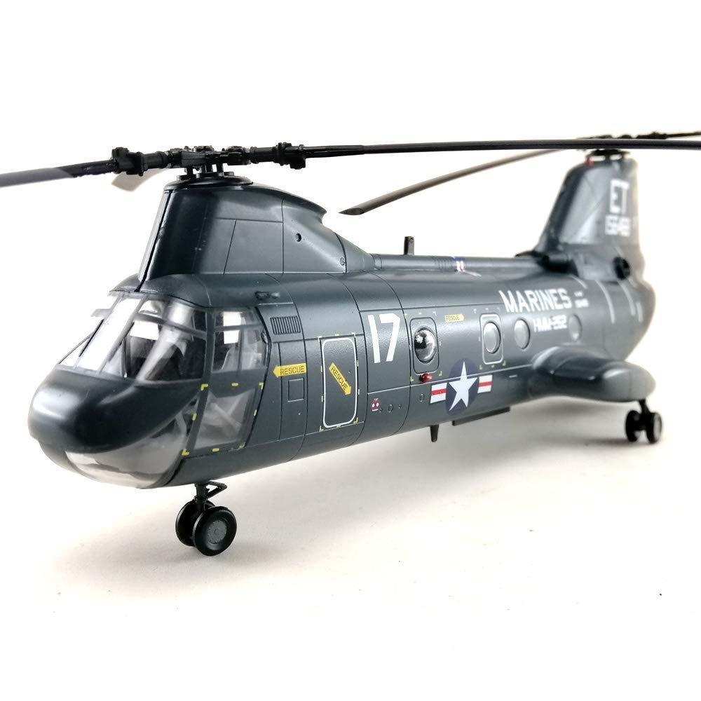 CH-46 Sea Knight US Marines Helicopter 1/72 Aircraft Model Collection Collectible Toy Hobby Assembled Mode