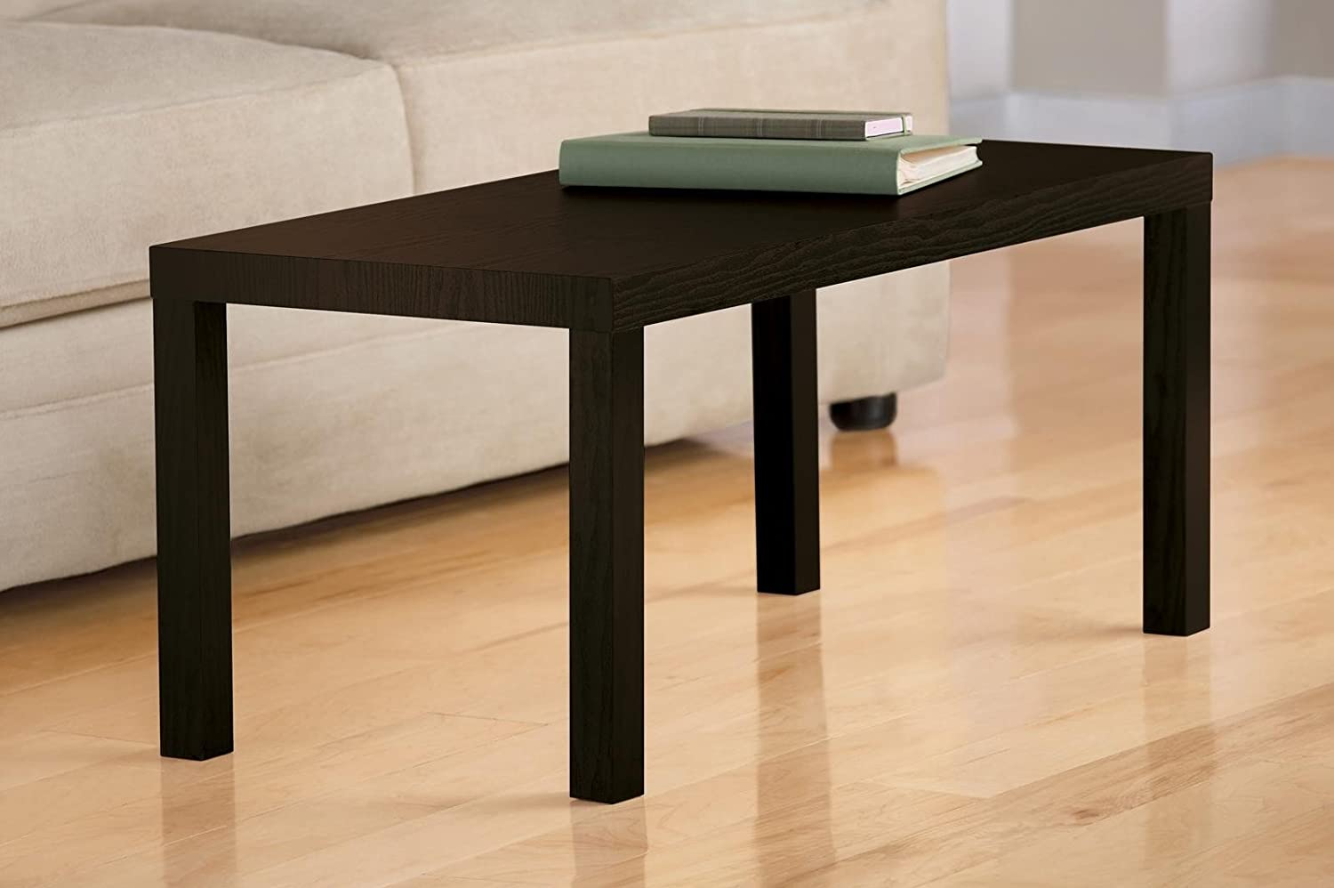 Amazoncom DHP Parsons Modern Coffee Table Dark Espresso