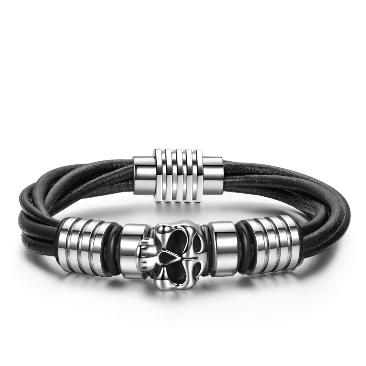 Schwarz und Silber Notting Hill J/äger der Verlorenen Ark Herren Armband Metall Titan Stahl