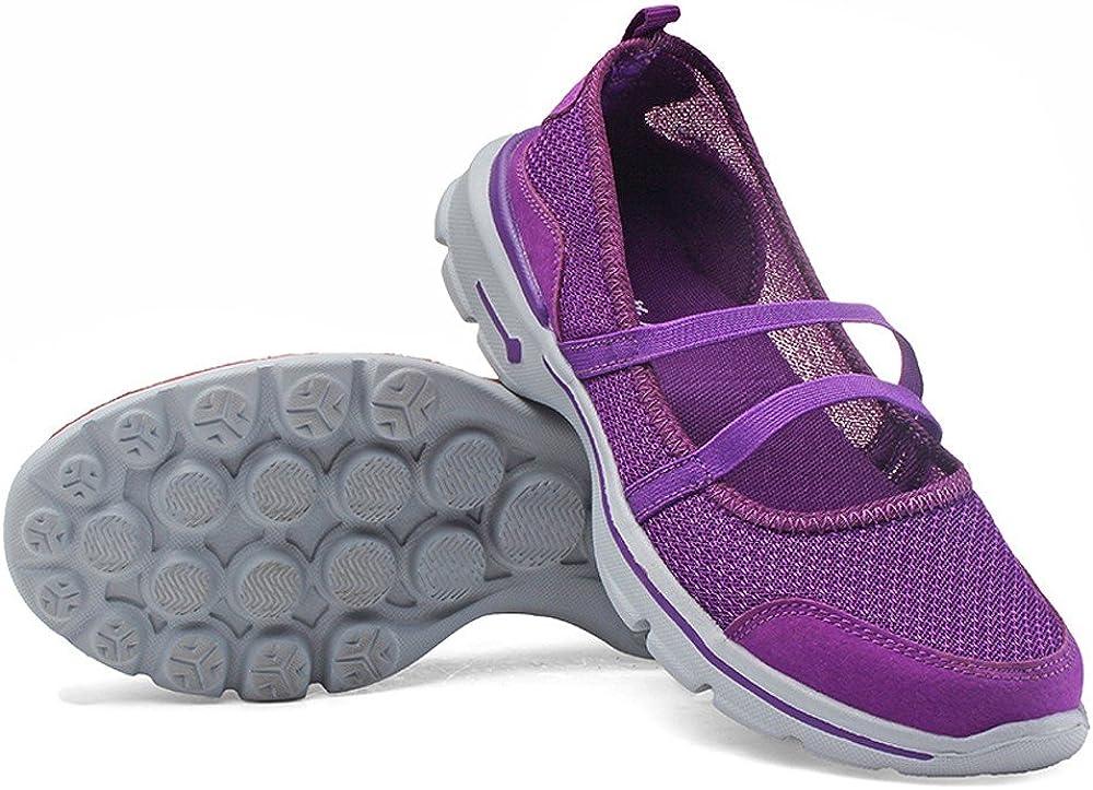 Qingsiy Zapatillas Deportivas de Mujer Gimnasio Fitness Correr Ligero Comodos Respirable Zapatos Planos de Mujer Transpirables de Malla Zapatos para Correr Casuales Zapatillas de Deporte: Amazon.es: Ropa y accesorios