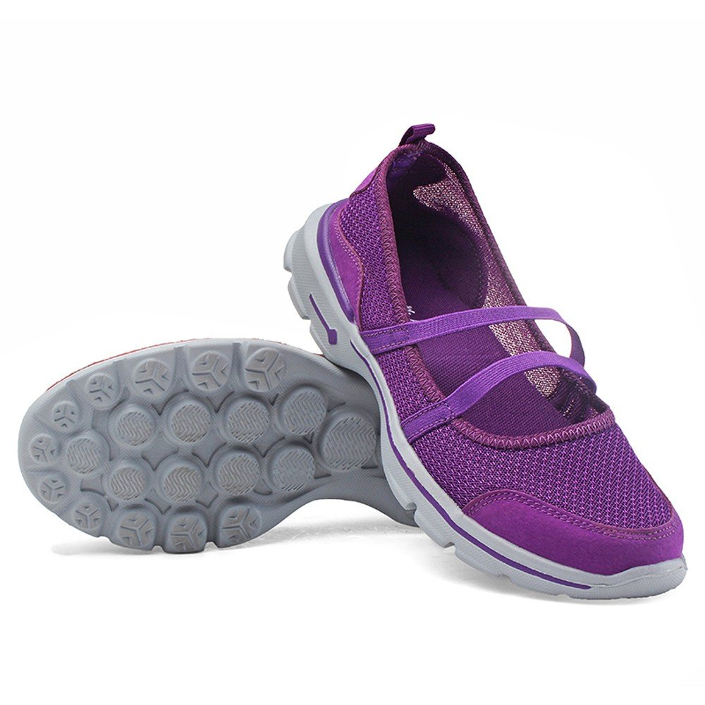 Sneakers For Womens -Clearance Sale ,Farjing Fashion Women Flats Shoes Mesh Breathable Shoes Casual Running Shoes Sneakers(US:6.5,Purple )