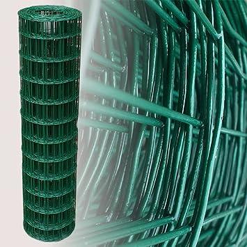 D TOP MULTI Maschendrahtzaun Wildzaun Gartenzaun PVC-beschichtet gr/ün 76mm 120cm x 10m versandkostenfrei