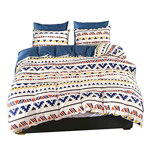 ViViTOP Cotton Duvet Cover Set Kids Girls Boys Bedding Sets with 2 Pillowcases Ultra Soft Breathable