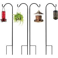 36.5'' Shepherds Hook Premium Metal Rust Resistant Pack for Hanging Christmas Light Lantern, Bird Feeder, Solar Lights…