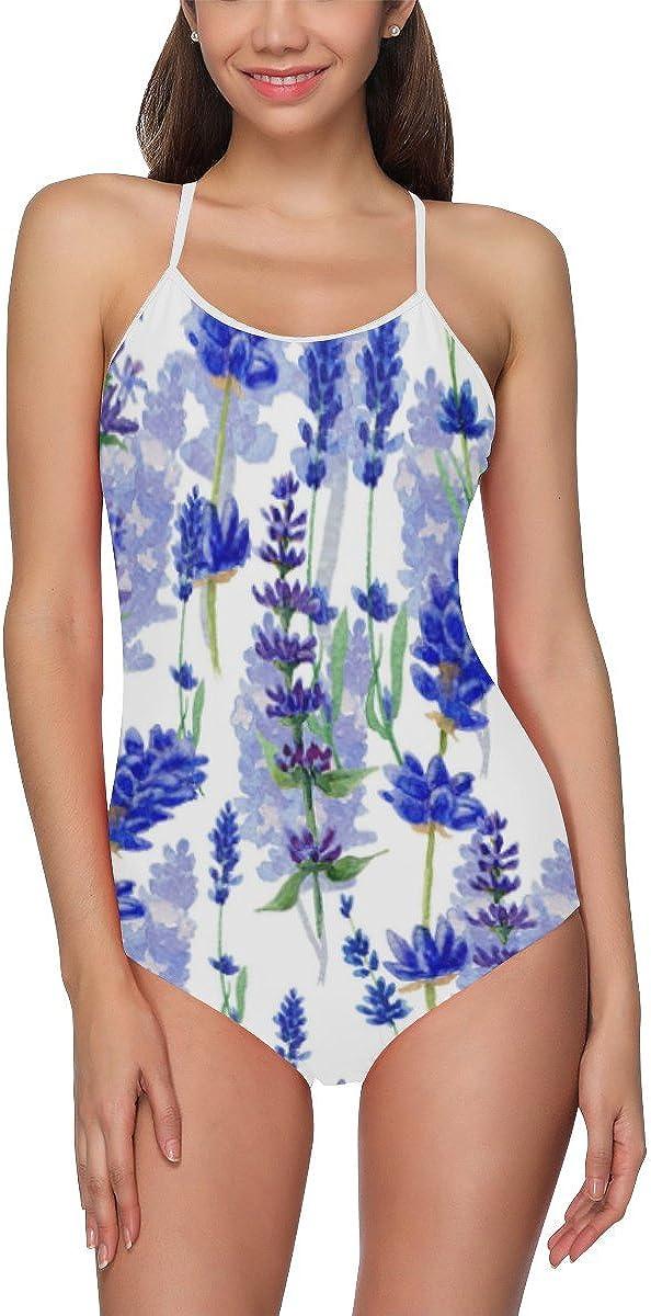 XS-3XL InterestPrint Summer Floral Flower One Piece Swimsuit Swimwear Bathing Suit for Women Juniors