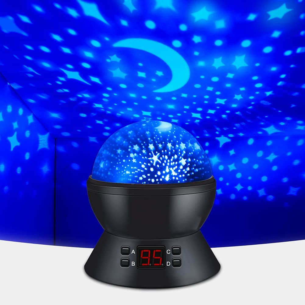 Gift for 1 Year Old Boy, Gifts for 2 Year Old Boys, 3 Year Old Boy Gift, Birthday Gift for 5 Year Old Boy, Gifts for Kids Under 5, Boys Night Light Stars Lamps Projector Rotating Star and Moon Lights