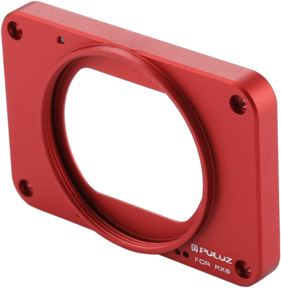 Lens Sunshade for Sony RX0 // RX0 II Color : Red 37mm UV Filter Lens Aluminum Alloy Front Panel with Screws and Screwdrivers Durable