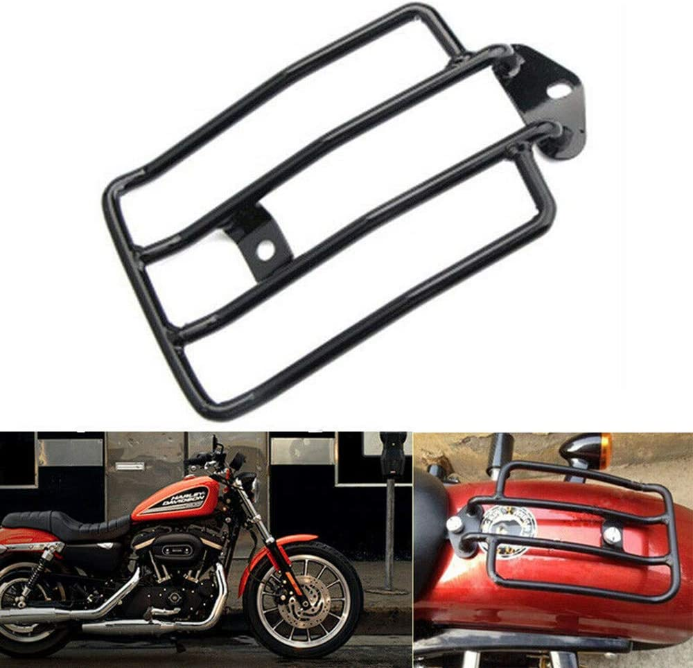 Sange Black Motorcycle Rear Fender Rack Solo Seat Luggage Rack lated Luggage Shelf for Harley Sportster XL 883 1200 77-0073 77-0073-B
