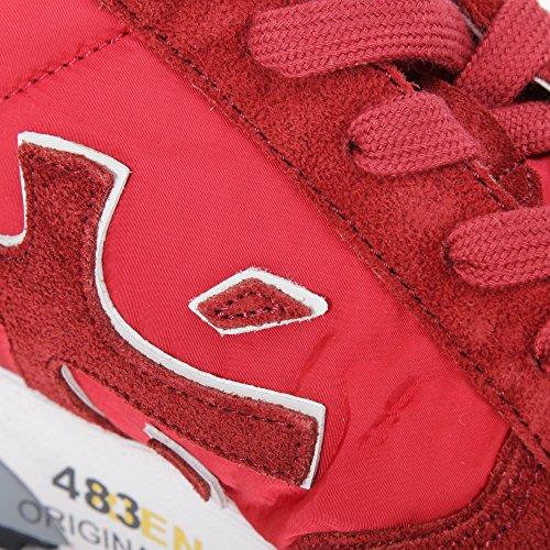Premiata Sneakers Uomo Mick2191 Camoscio Rosso