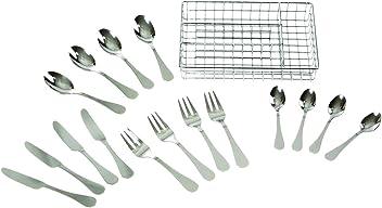 Melissa & Doug Stainless Steel Mealtime Utensil Set - Dishwasher-Safe Play Kitchen Accessories
