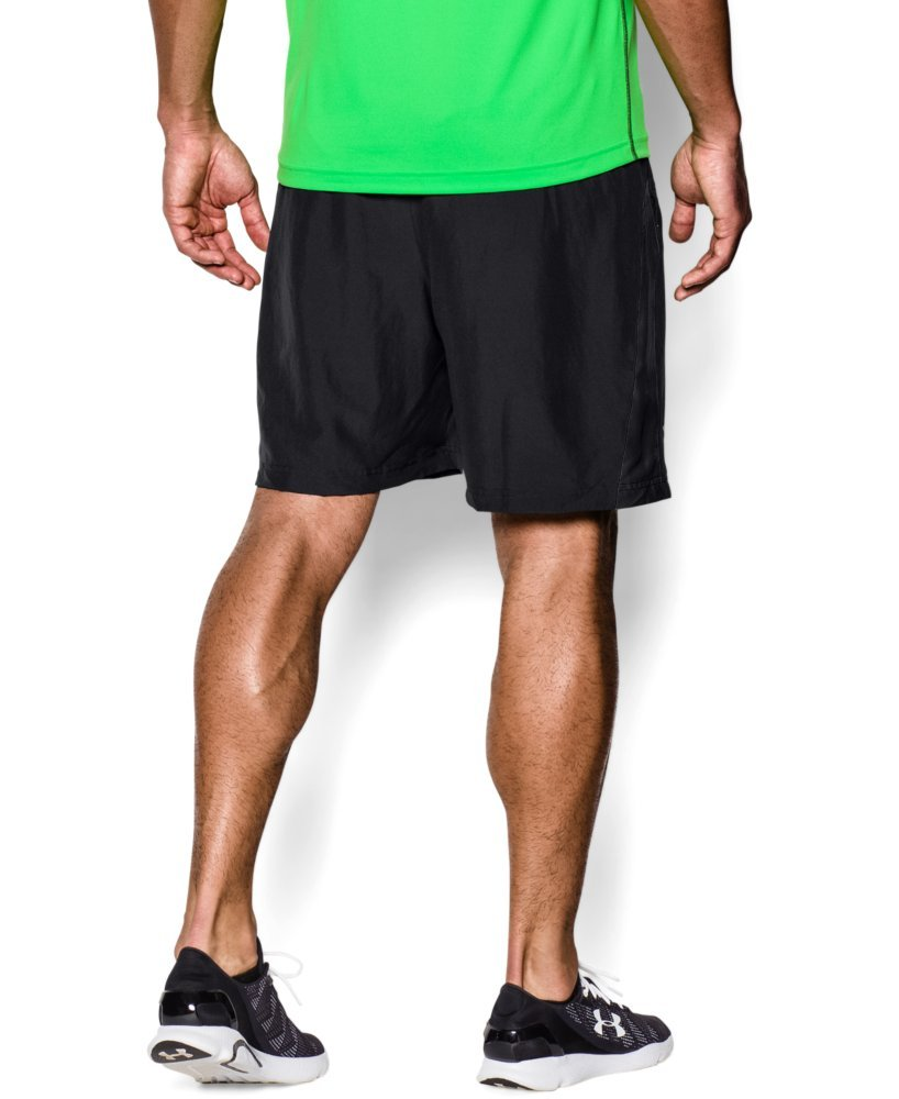 Under Armour Men's Launch Run Woven 7'' Run Shorts, Black /Reflective, Medium by Under Armour (Image #2)