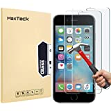"""[3 Pack] iPhone 6 6S 7 8 Screen Protector, MaxTeck 0.26mm 9H Tempered Shatterproof Glass Screen Protector Anti-Shatter Film for iPhone 6 6S 4.7"""" inch [3D Touch Compatible]"""