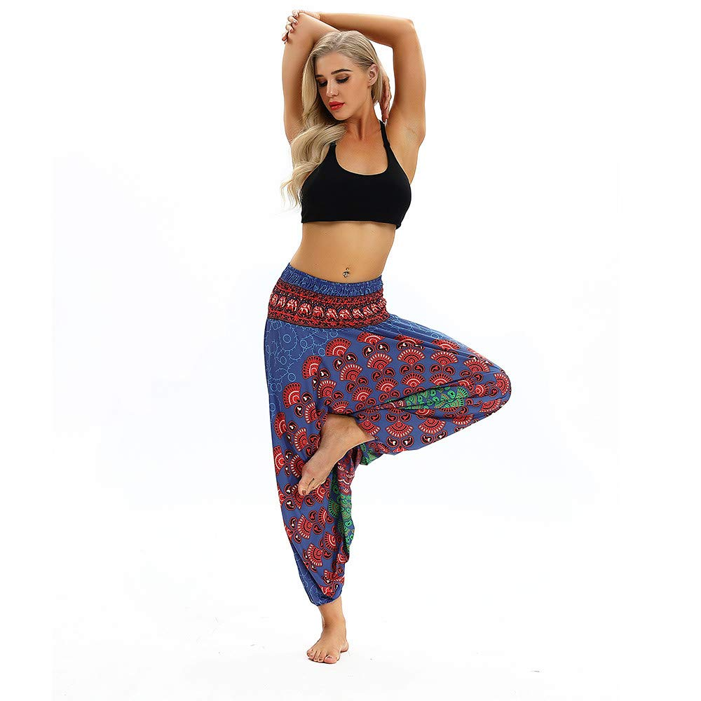 Mujer Pantalones Anchos De Pierna Pantalones De Yoga Pantalones Holgados Boho De Aladdin Harem Mujer Pantalones Harem Verano Sueltos Pantalon Para Yoga Danza Descanso Fitness Pilates Ropa Yoga Y Pilates
