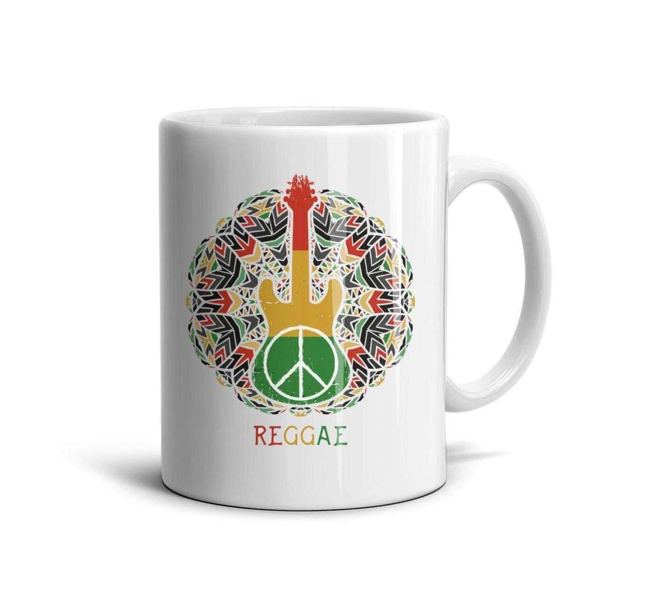 devrrssx Taza de Viaje con símbolo de la Paz y Guitarra, Gran ...