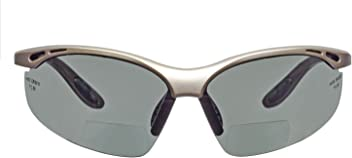 voltX 'CONSTRUCTOR' Bifocal Plano Readers Safety Glasses/Cycling Sports Glasses (SMOKE/GRAY) CE EN166F certified