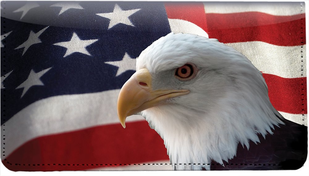 Soaring Over America Personal Leather Checkbook Cover by Carousel Checks Inc.
