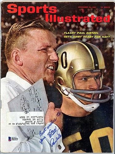 Paul Dietzel Signed Sports Illustrated Magazine Army Black Knights To Stan - Beckett Authenticated from Sports Collectibles Online