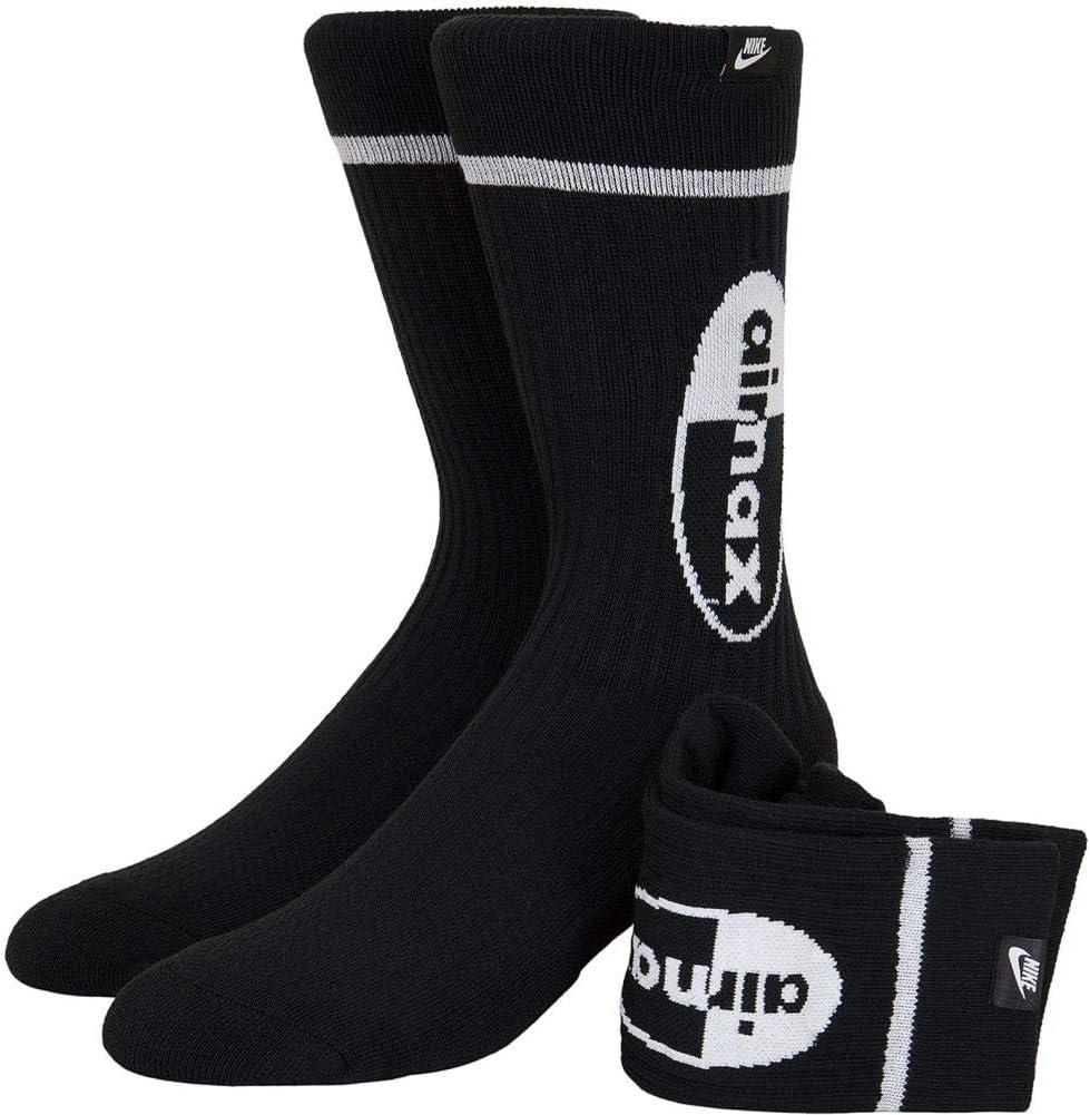 Nike Unisex_Adult Air Max Socks, Black