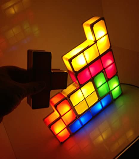 Amazon.com: ECOSS Tetris Stackable Led Desk Lamp with Constructible Retro  Game Style LED Lights(Item #249163): Baby - Amazon.com: ECOSS Tetris Stackable Led Desk Lamp With