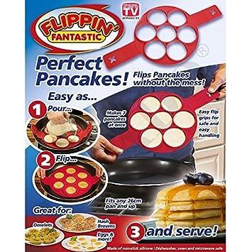 Pancake Moldes de Silicona, Antiadherente Huevos Moldes Pancake, Mould Cake Maker Egg Anillo,