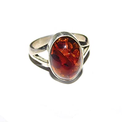 c0bdf97e5 Buy Akshara V Sales Natural Baltic Amber Gemstone Ethnic Handmade 925  Silver Vintage Jewelry Ring for Mens and Womens Online at Low Prices in  India | Amazon ...