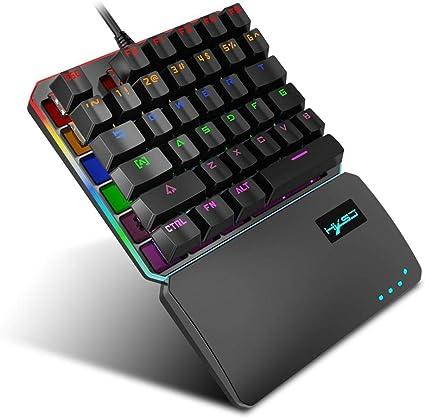 AOLVO T9 Pro Teclado Gaming mecánico USB con Cable, Mini ...