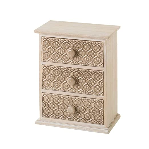 Mueble especiero de madera con 3 cajones beige clásico para ...