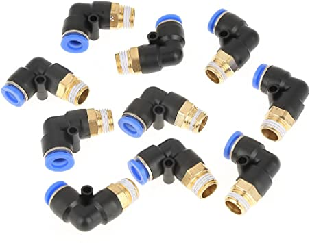 5/pcs 8/mm a 6/mm One Touch recta r/ápida de conectores adaptadores