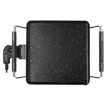 Taurus Galexia Plancha de asar eléctrica de 28 x 28 cm, antiadherente con recubrimiento Stone, 1500W, control de temperatura, apta para lavavajillas, ...