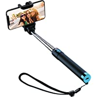 Wireless Selfie Stick, Mpow iSnap X Extendable Monopod with Built-in Bluetooth Remote Shutter for iPhone XS/XS Max/XR/X/8/8P/7/7P/6s/6P, Galaxy S5/S6/S7/S8, Google, Huawei and More(Blue)