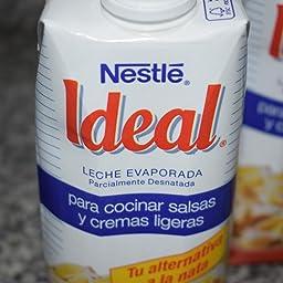 Nestlé Ideal - Leche Evaporada - 4 Paquetes de 500 ml: Amazon.es ...