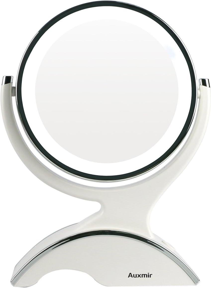 Make-Up-Spiegel 3 X Vergr/ö/ßerung Wand Kosmetikspiegel f/ür Schminken//Rasieren Powered by Plug,Gold/_8.5inch ALYR Kosmetik//Schmink Spiegel LED Beleuchtung
